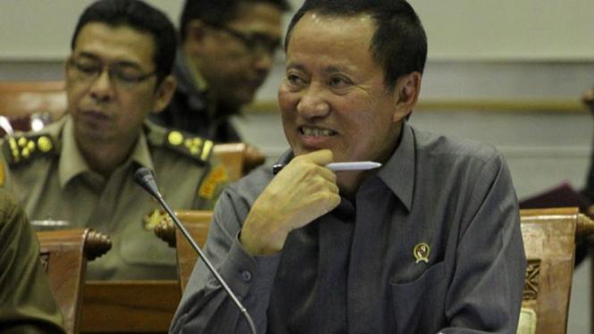Menkumham Amir Syamsuddin  Rapat Kerja dengan Komisi III DPR RI