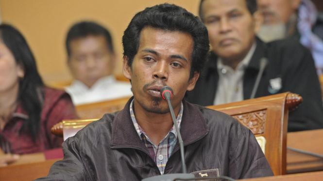 Martius Totok, warga Mesuji, Lampung mengadu ke DPR