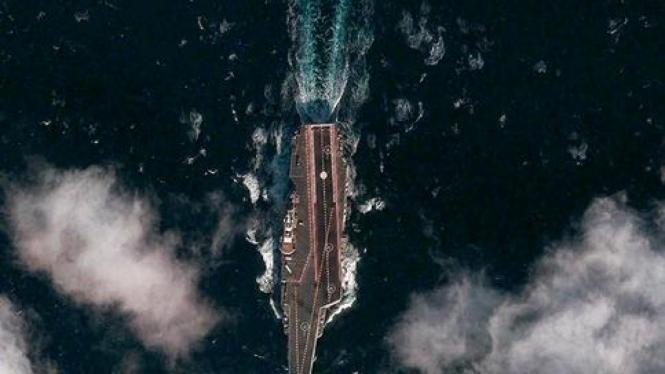 Citra satelit kapal induk China