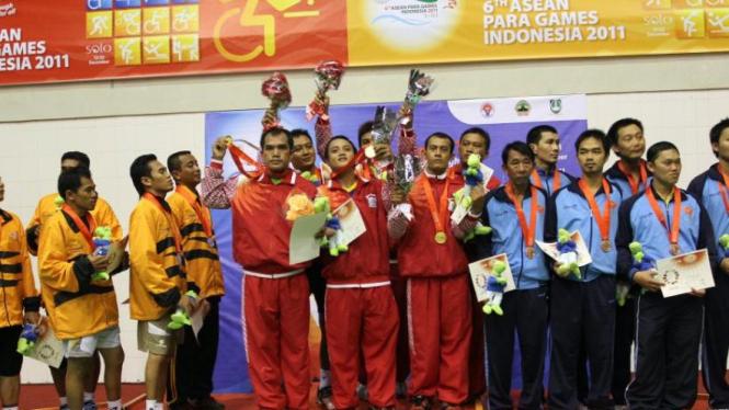 Tim Bulutangkis Indonesia di Asean Para Games 2011