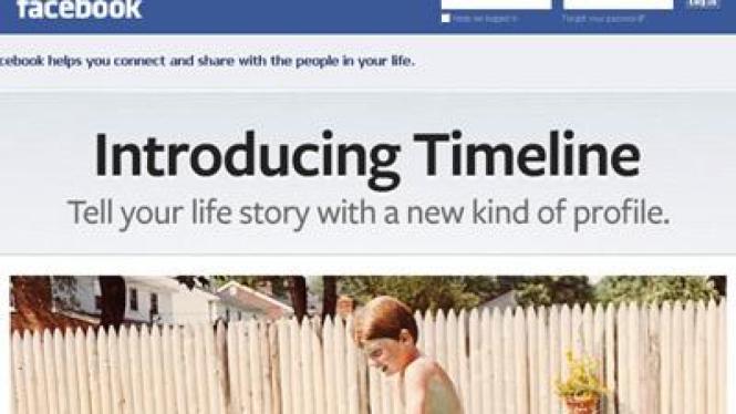 Facebook perkenalkan tampilan dan Timeline baru