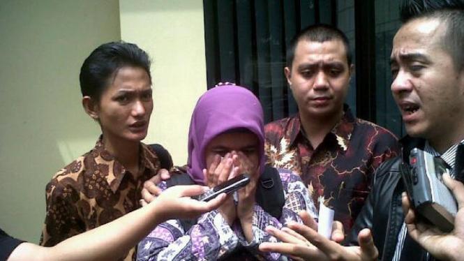 EK, istri polisi yang mengaku diperkosa