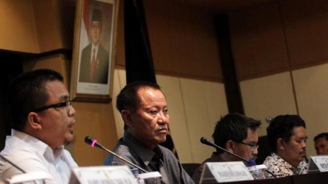 Menkumham Amir Syamsuddin di Jumpa Pers Verifikasi Partai Politik