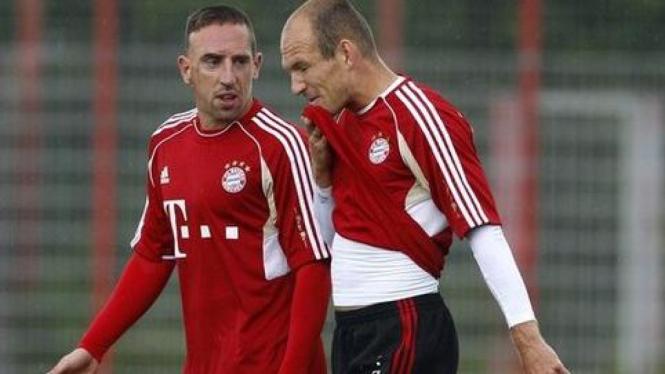 Arjen Robben (kanan) dan Franck Ribery