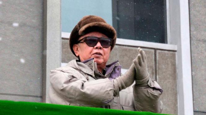 Pemimpin Korea Utara yang juga ayah Kim Jong-un, Kim Jong-il.