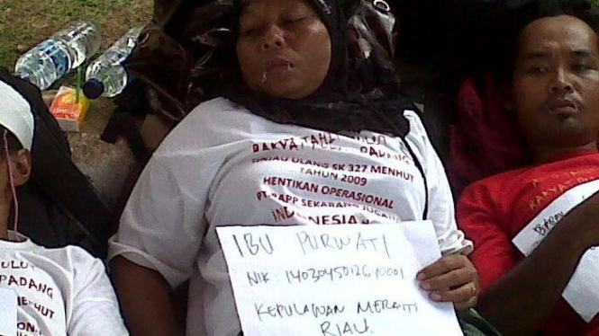 Aksi jahit mulut warga Kepulauan Meranti