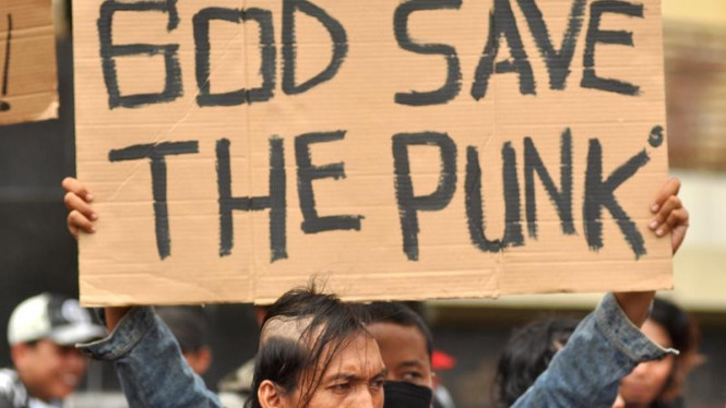 Demo Punk di Mabes Polri