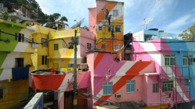 Favela Painting, pemukiman penduduk di Brazil