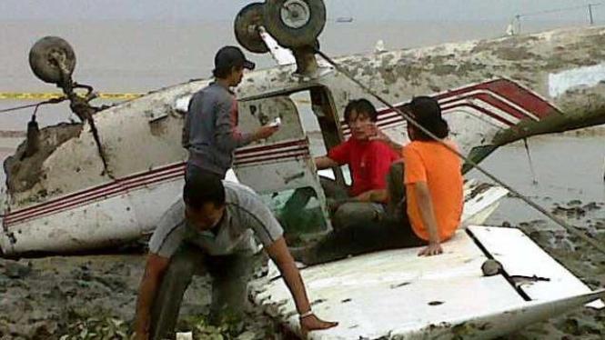 Pesawat Cessna mengalami kecelakaan di Cirebon