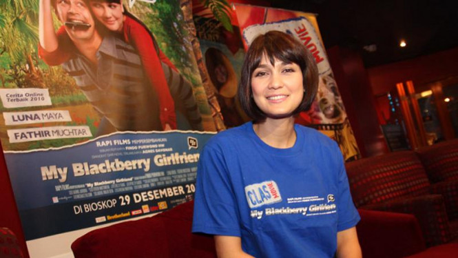 Luna Maya di Jumpa Pers Film My Blackberry Girlfriend