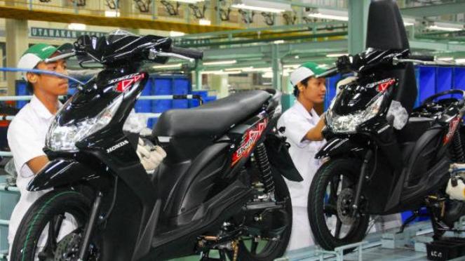 Pabrik perakitan sepeda motor Honda.