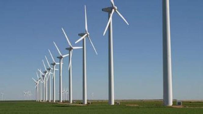 Ilustrasi kincir angin.