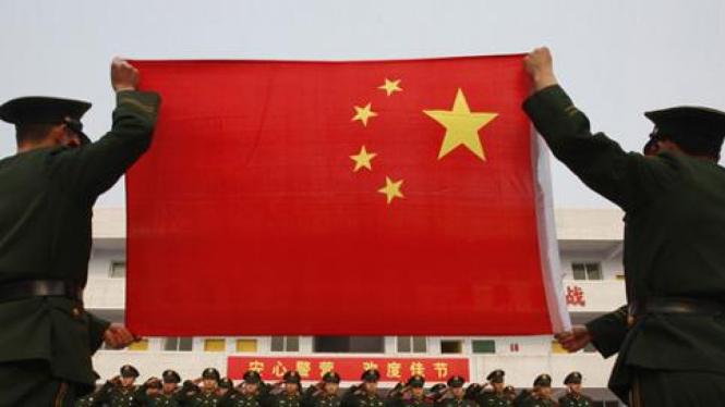 Pengibaran bendera China