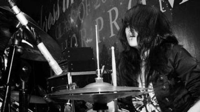 Febby Tan penabuh drum termuda di Indonesia