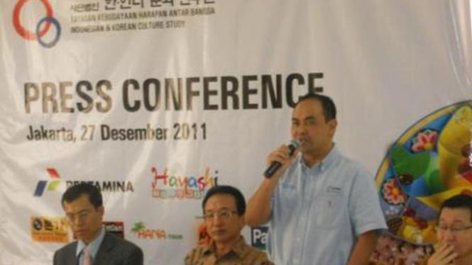Ketua IKCS Kim Sang Tae dalam konferensi Pers.