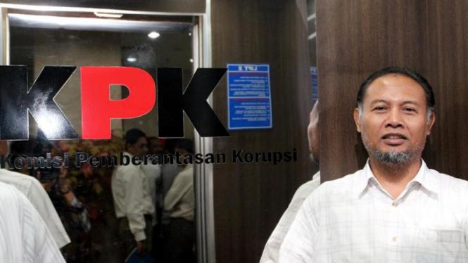 Wakil Ketua KPK Bambang Widjojanto Jalani Tes Urine