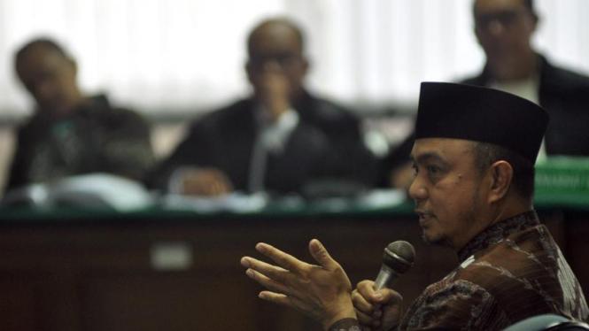 Sidang Wakil Ketua Badan Anggaran DPR Tamsil Linrung di Tipikor