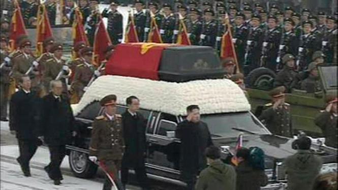 Prosesi pemakaman Kim Jong-il