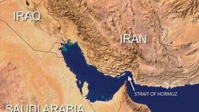 Selat Hormuz, jalur minyak dunia di Iran.