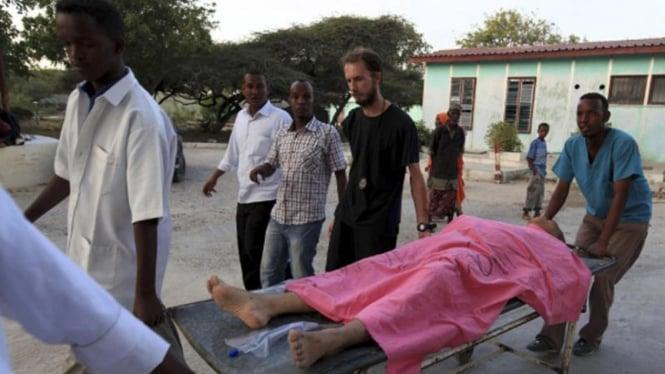 Salah satu korban penembakan di Mogadishu, Somalia