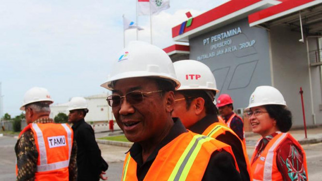 Kunjungan Menteri ESDM Jero Wacik Ke Depo Plumpang