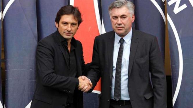 Leonardo Araujo dan Carlo Ancelotti