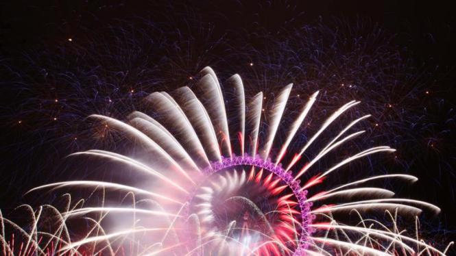 Perayaan tahun baru 2012 di Inggris