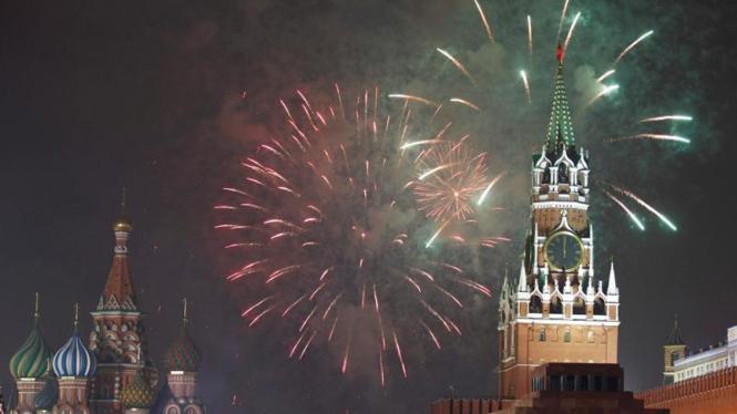 Perayaan tahun baru 2012 di Rusia