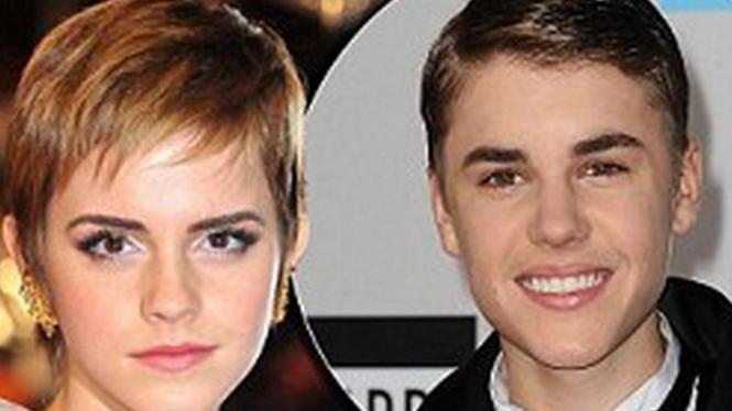 Emma Watson dan Justin Bieber