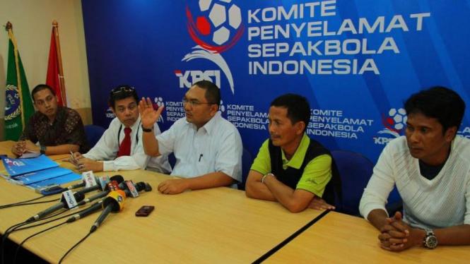 Konferensi Pers Komite Penyelamat Sepakbola Indonesia
