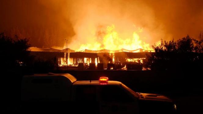 Kebakaran di Chile
