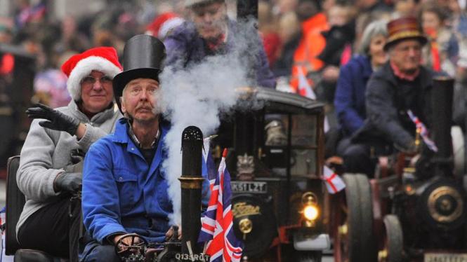Parade tahun baru 2012 di kota London