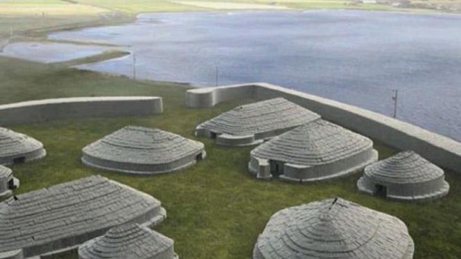 Ness of Brodgar direka ulang oleh BBC