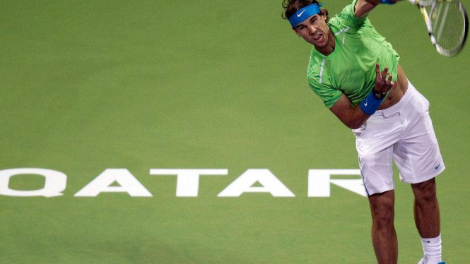 Rafael Nadal di Qatar Open 2012