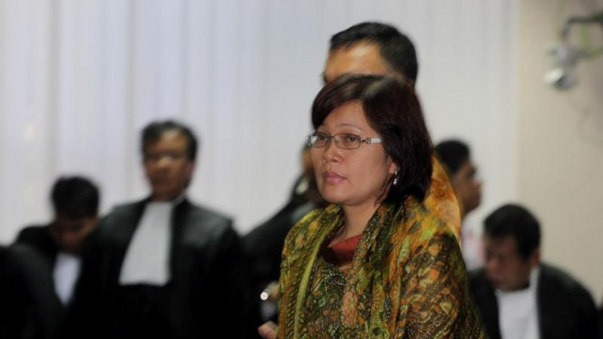 Mindo Rosalina Manulang Saat Sidang Muhammad Nazaruddin