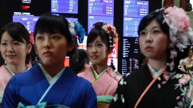Pembukaan perdagangan saham di Bursa Saham Tokyo