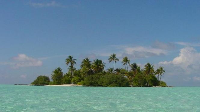 Salah satu pulau di Maladewa