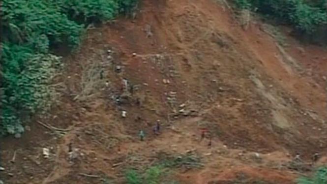 Tanah longsor di pulau Mindanao, Filipina