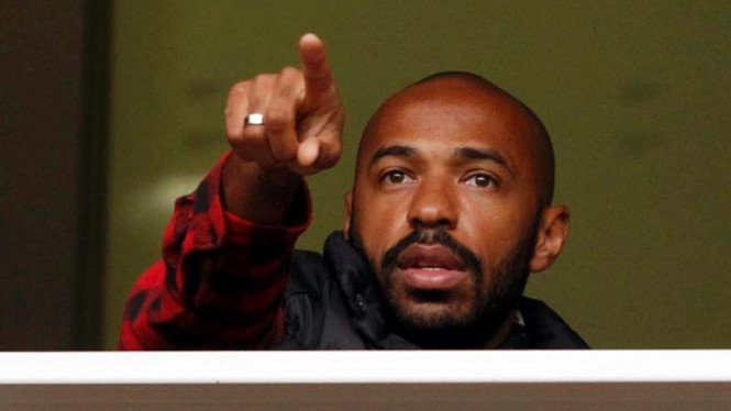 Mantan pemain Arsenal dan Barcelona, Thierry Henry.