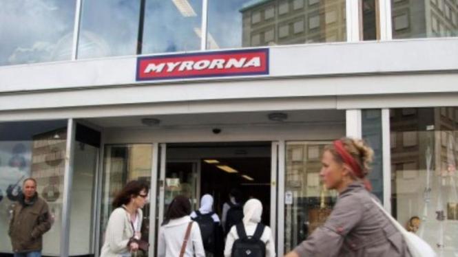 Toko barang bekas di Swedia