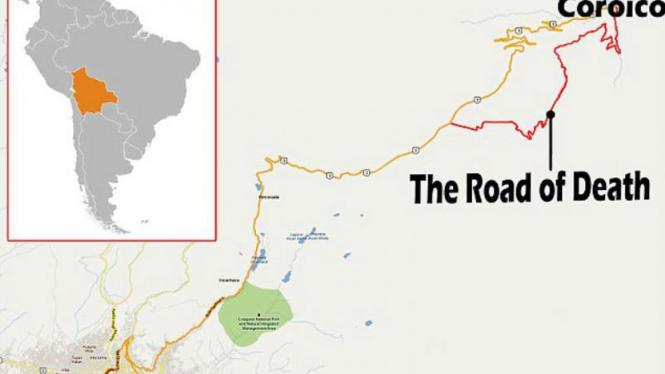 Lokasi jalan paling berbahaya di dunia