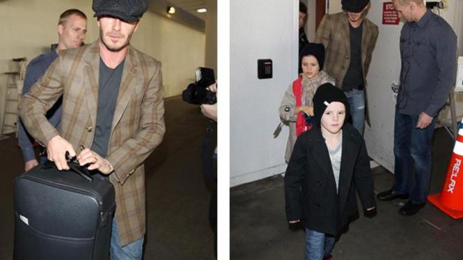 David Beckham dan anak-anaknya