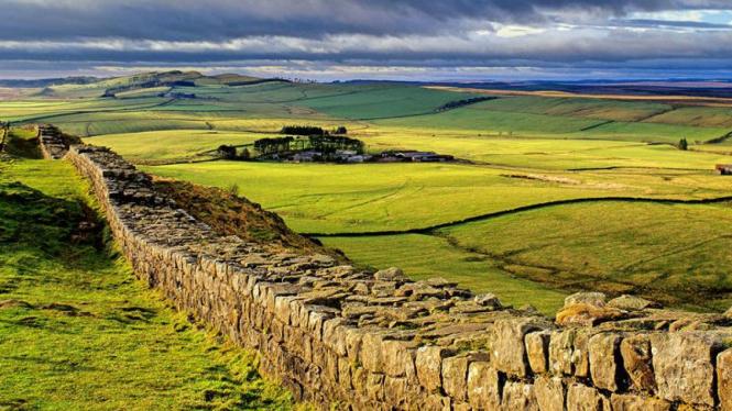 Hadrian Wall di Newcastle, Inggris