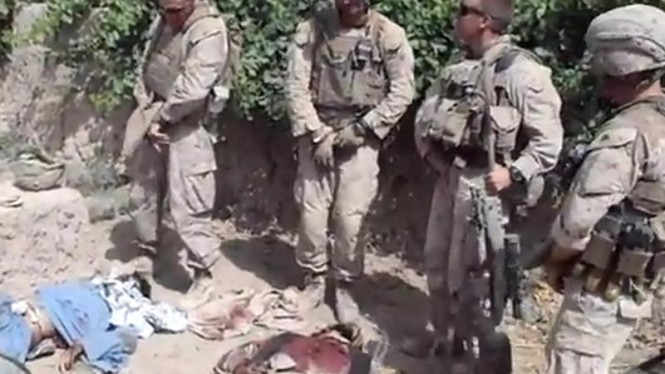 Video tentara AS mengencingi mayat anggota Taliban di Youtube
