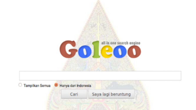 Search engine Goleoo