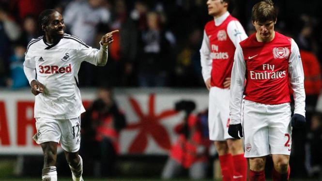 Arsenal Tumbang Dari Swansea City