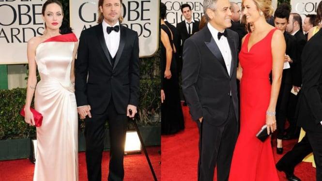 pasangan memikat di Golden Globe 2012