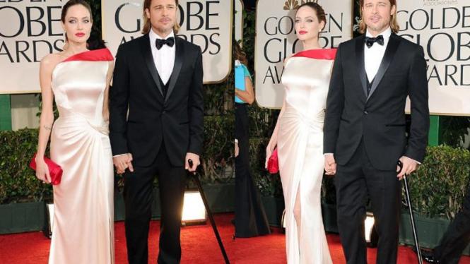 Brad Pitt dan Angelina Jolie di Golden Globe 2012