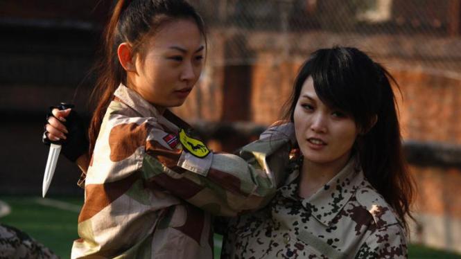 Pelatihan bodyguard cantik China
