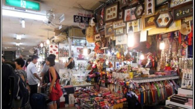 Pasar Namdaemun, di Seoul, Korea Selatan